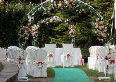 Foto relative all'allestimento matrimonio del 09/09/2018 presso Villa Puccini a Cunardo (VA)